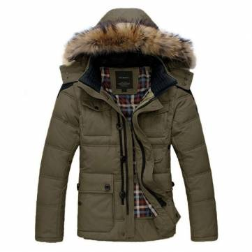Mens Thicken Warm Winter Coats Parka Overcoat Outwear - US