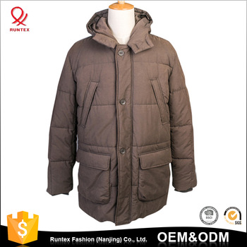 Oem High Quality Cotton Outwear Winter Padded Jacket Long Men