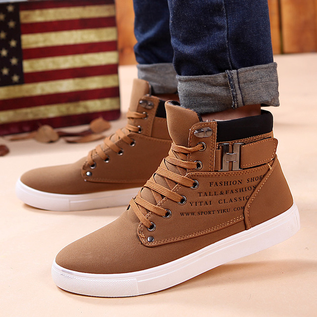 PU Ankle boots warm men boots winter shoes 2018 new arrivals fashion
