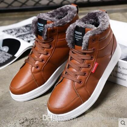 Winter Shoes Mens Casual Shoes Warm Shoes Korean Tide Shoes Mens