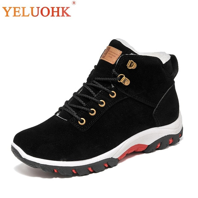 Winter Shoes Men Plush Warm 2018 Winter Boots Men Anti skidding Men