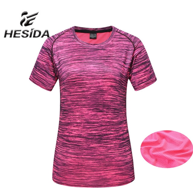2018 Stripe Sport T Shirt Women Brand Design Quick Dry Short Sleeve