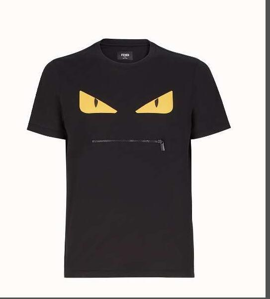 2019 Brand FENDI Spring Fashion Letter Brand T Shirt Men Women Tee