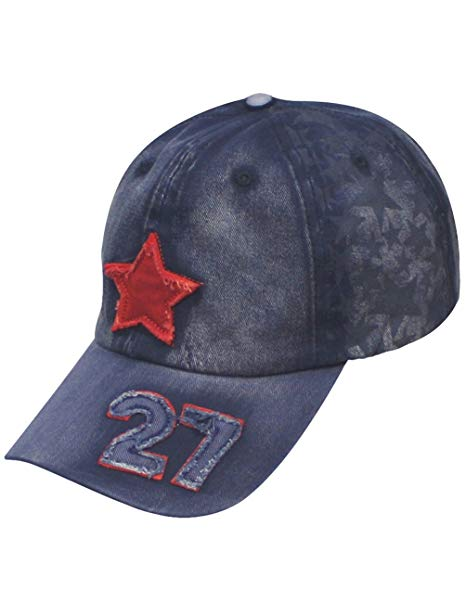 Dahlia Women's Cap - Star Panel Five-Pointed Star Number 27 - Jean