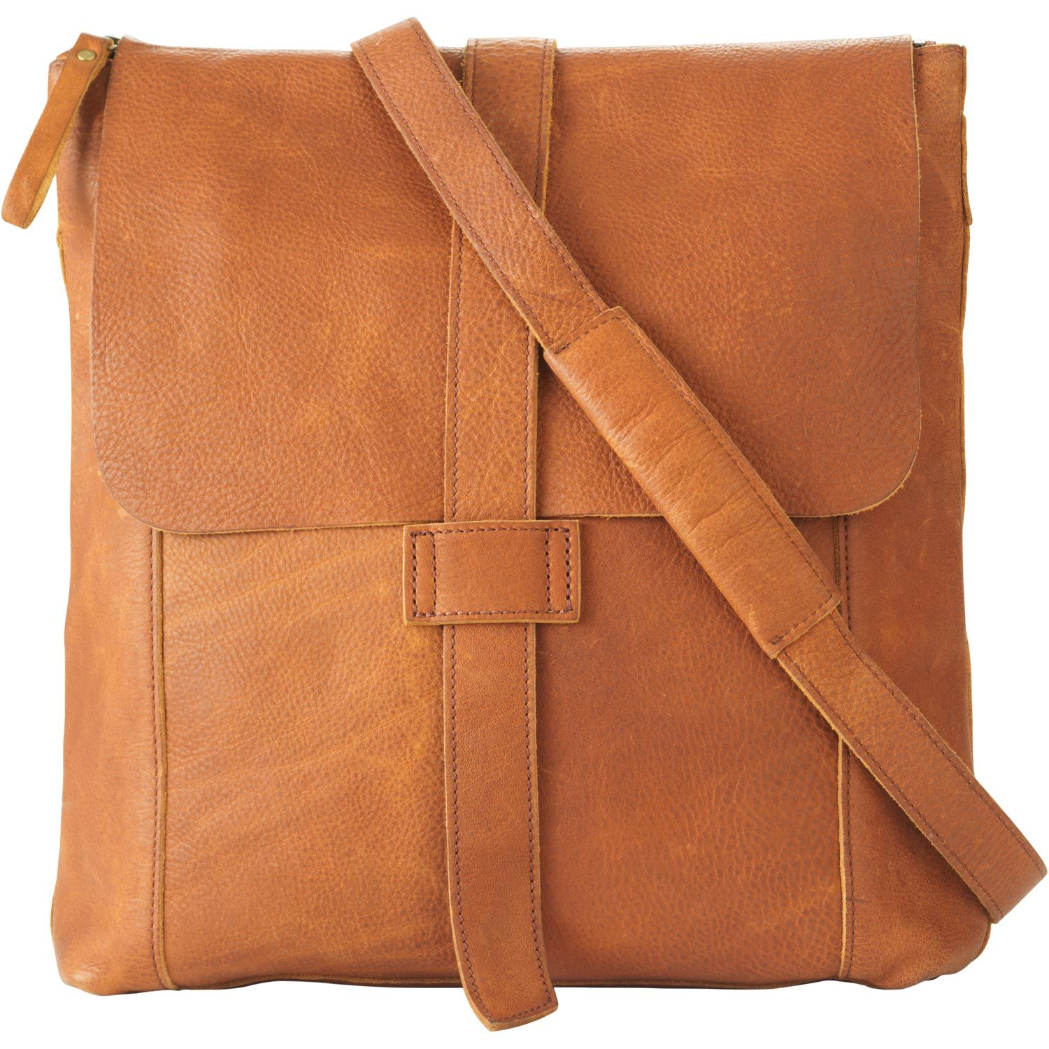 Women's Lifetime Leather Messenger Bag | Duluth Trading Company