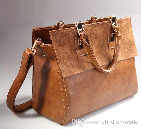 Women Leather Bags Restore Leather Bag Leather Briefcase Handbags