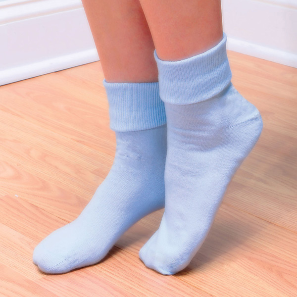 Buster Brown® 100% Cotton Fold Over Socks - Women's (3 Pair Pack