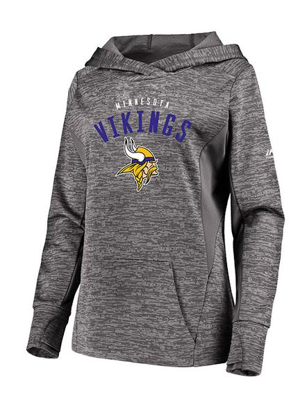 Ladies Vikings Majestic Ultra Streak Pullover Sweatshirt | Women's