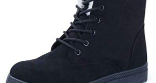 Amazon.com | CIOR Women's Winter Boots Warm Suede Lace up Snow Boots