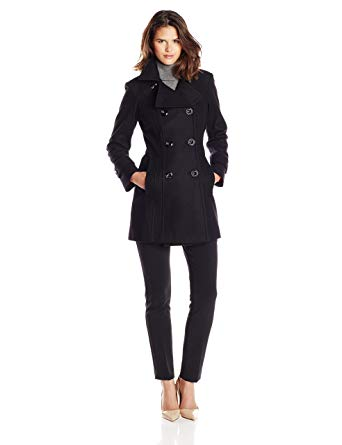 Amazon.com: Anne Klein Women's Classic Double-Breasted Coat: Clothing