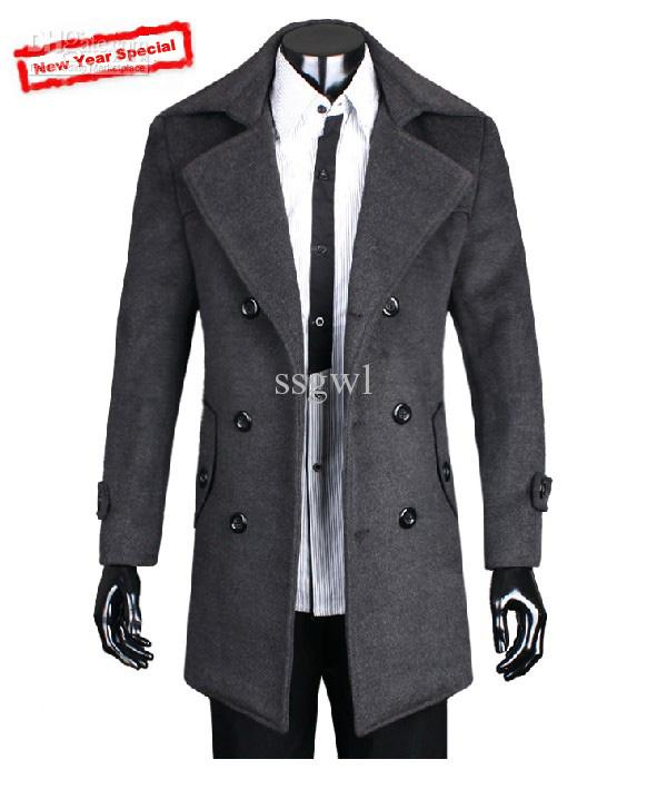 2019 2016 Fashion Men Cashmere Wool Coat Jackets Outerwear/Winter