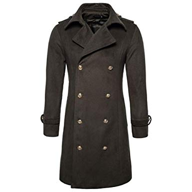 Winter Wool Coat Men, Sunyastor Men's Wool Blend Double Breasted