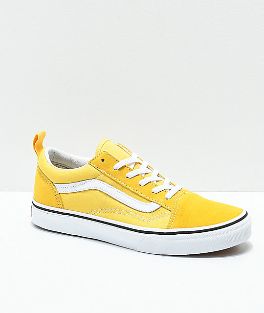Vans Old Skool Yellow & True White Skate Shoes | Zumiez
