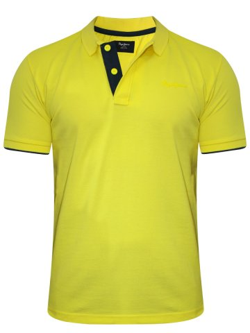 Buy T-shirts Online | Pepe Jeans Yellow Polo T-shirt | Pimk100017
