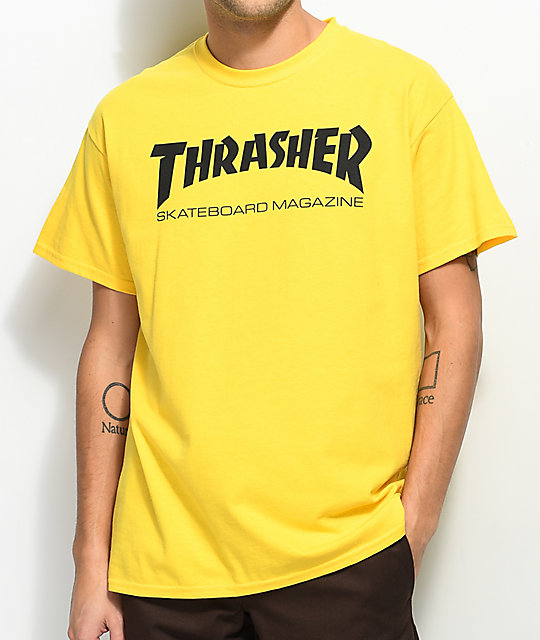 Thrasher Skate Mag Yellow T-Shirt | Zumiez