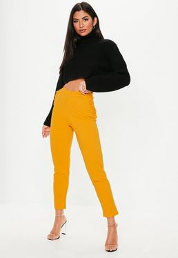 Yellow Trousers | Women's Yellow Trousers Online - Missguided