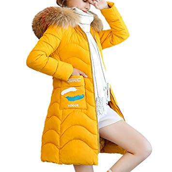 Womens Parka Jacket Hooded Winter Coats Faux Fur Outdoor Warm Faux