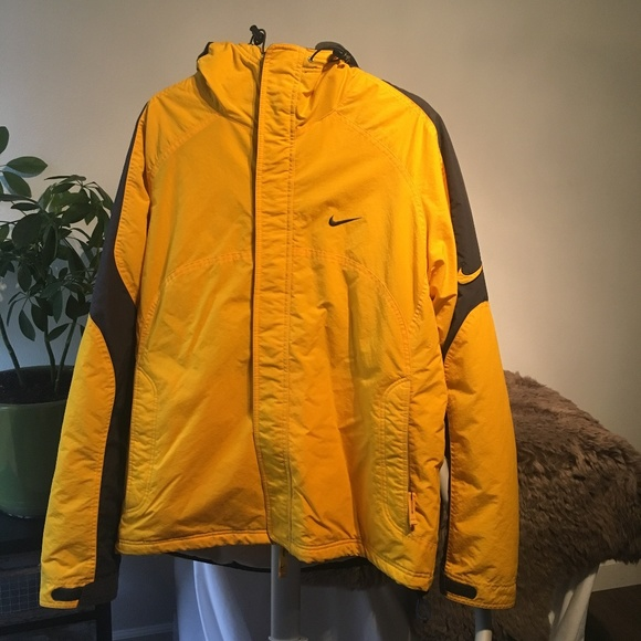 Nike Jackets & Coats | Mens Yellow Winter Coat Sz Xl | Poshmark